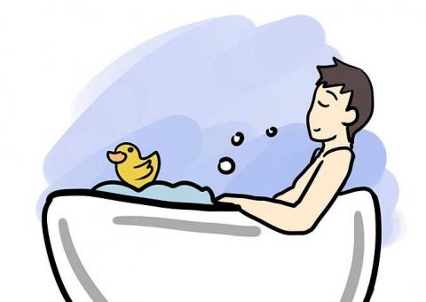 Теплая вода отлично расслабляет