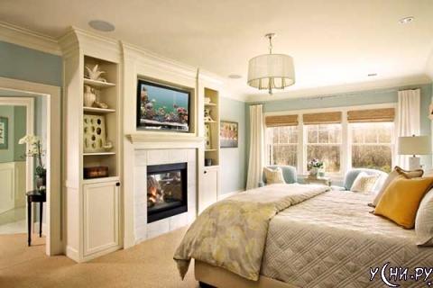 Камин в спальне: уют и роскошь