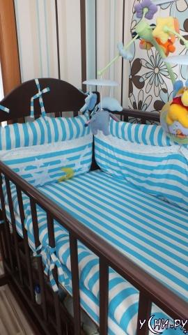 Готовые бортики для детской кроватки